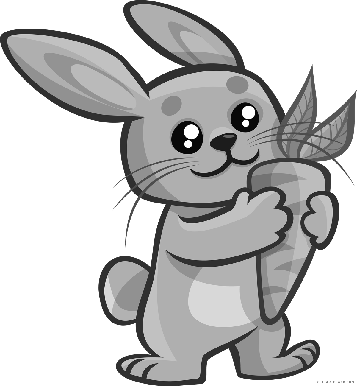 With carrot clipartblack com. Picture clipart bunny