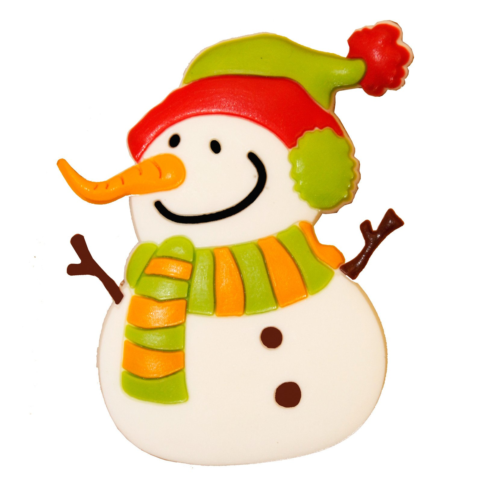 Snowman with fridge magnet. Carrot clipart carrot nose
