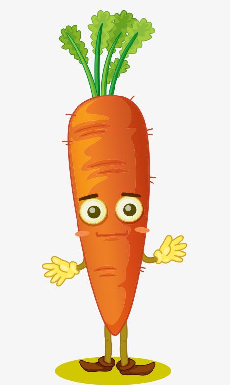 Cute people anime animal. Carrot clipart cartoon