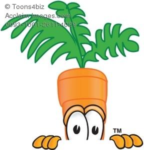 Carrot clipart cartoon. Peeking over