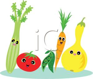 Carrot with vegetables royalty. Celery clipart cute cartoon