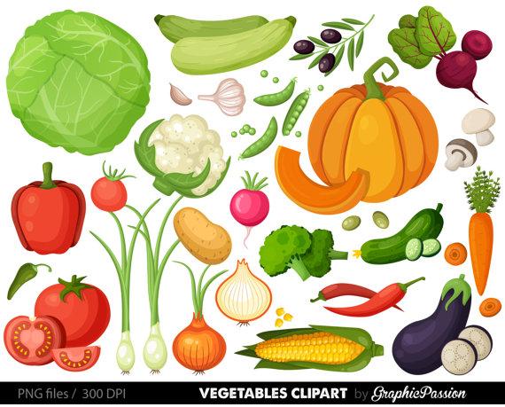 Digital clip art vegetable. Vegetables clipart vegy