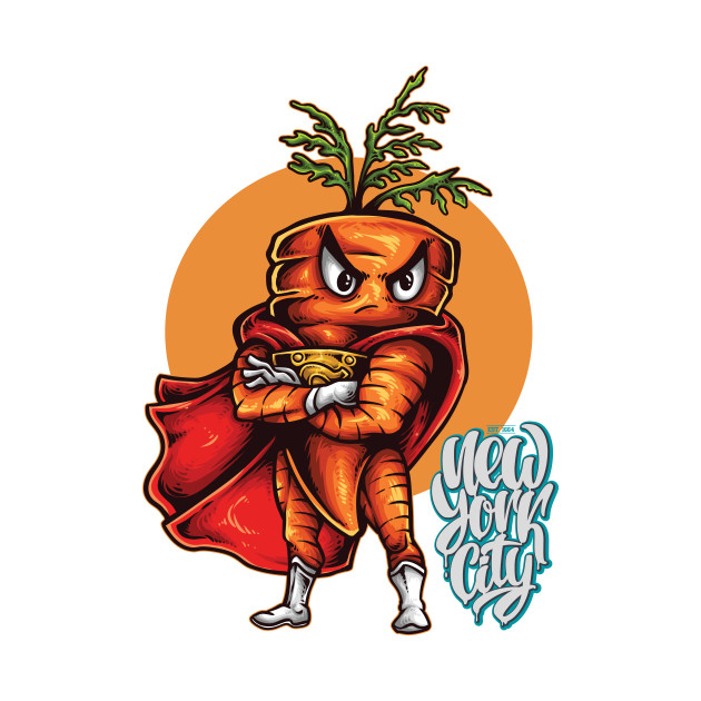 Carrots clipart superhero. The angry carrot foodietoon