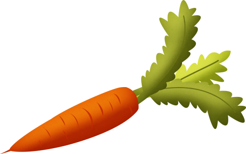 Carrots clipart transparent background. Carrot with green leaves