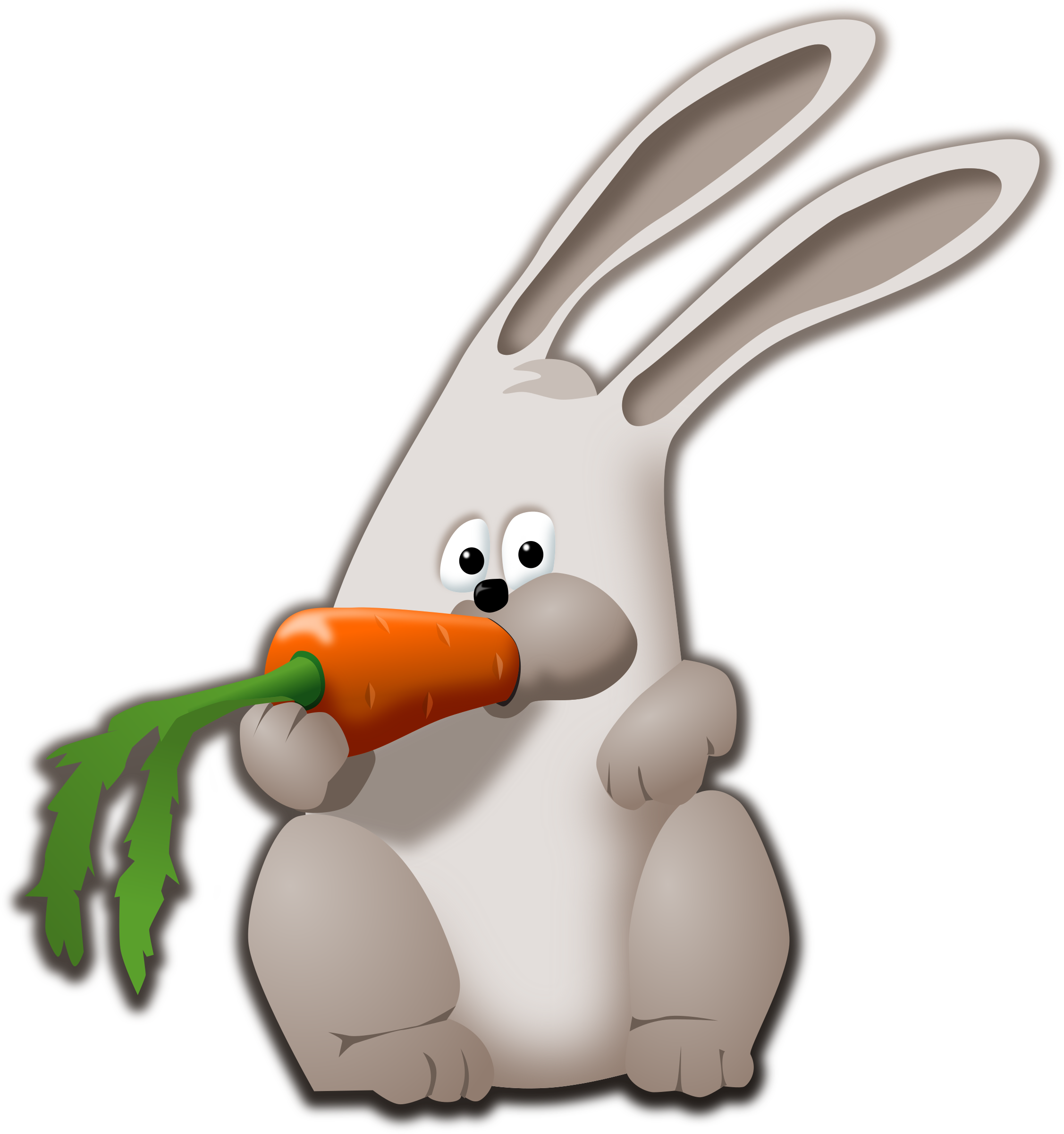 Eating big image png. Clipart bunny carrot