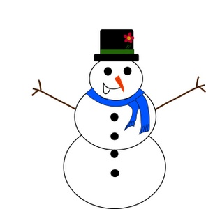 Free snowman clip art. Carrot clipart christmas