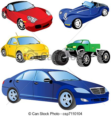 Cars clipart. Different
