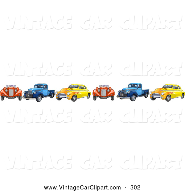 Cars clipart borders. Of a border colorful