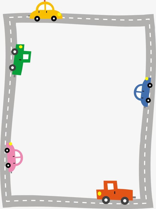 Cars clipart borders. Automotive border vector car