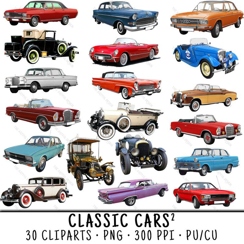 Car vintage clip art. Cars clipart classic