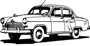 50s clipart 50's car. Classic