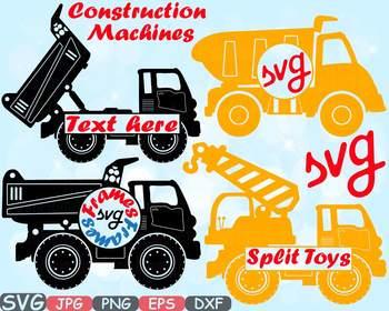 Machines circle split dump. Cars clipart construction