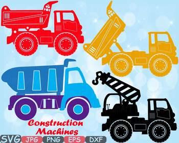 Cars clipart construction. Machines dump trucks toys