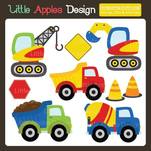 Cars clipart construction. Brightly colored vehicles for