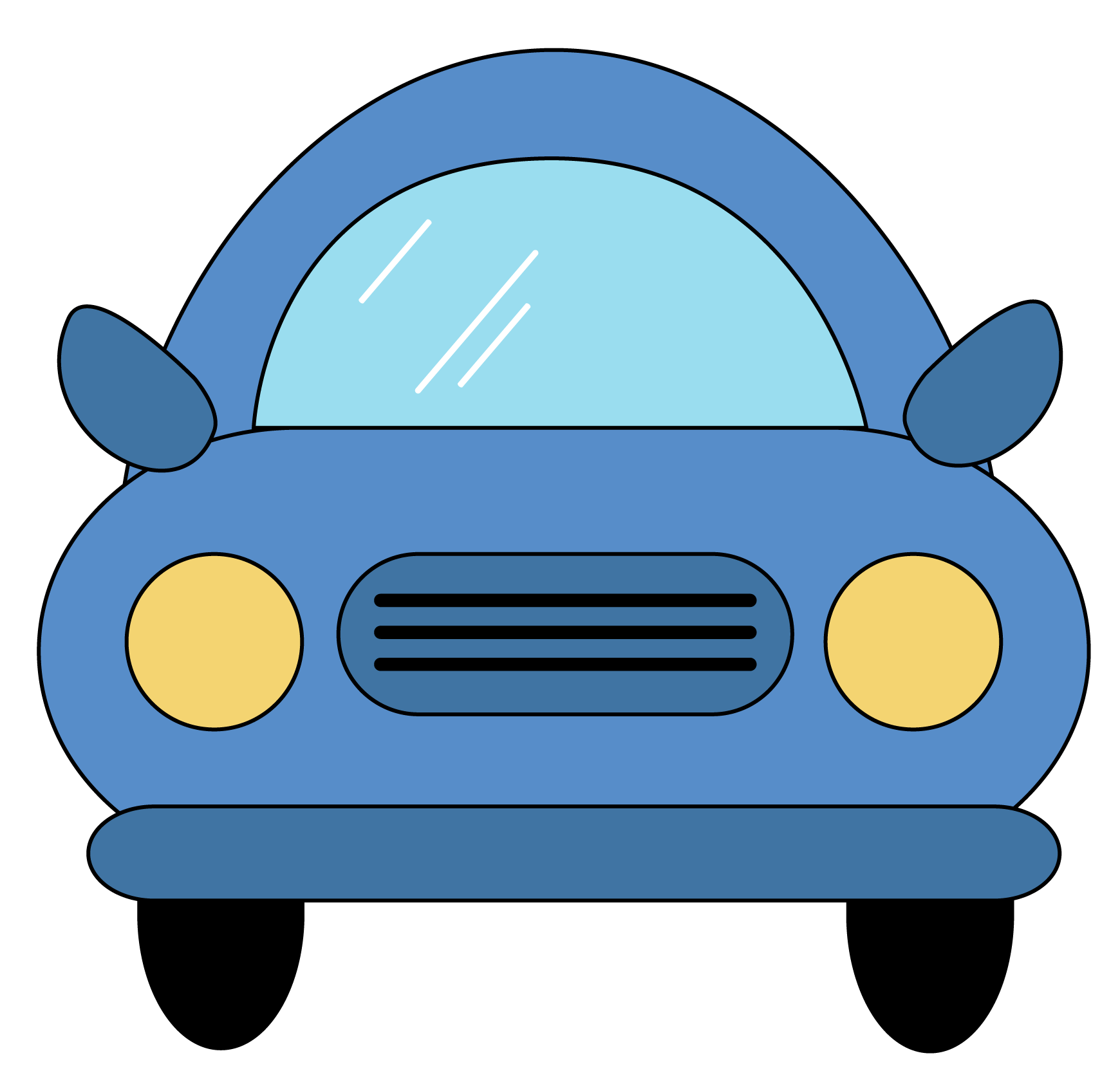 collection of view. Clipart cars front