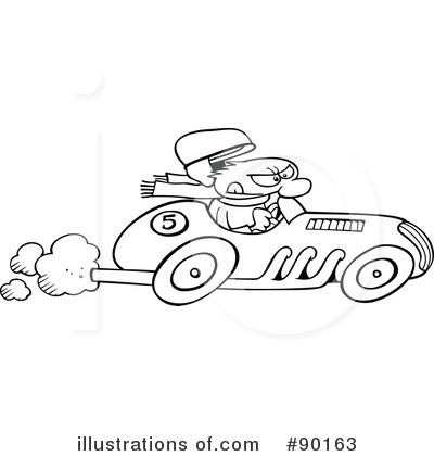 Cars clipart fast. Race car illustration by