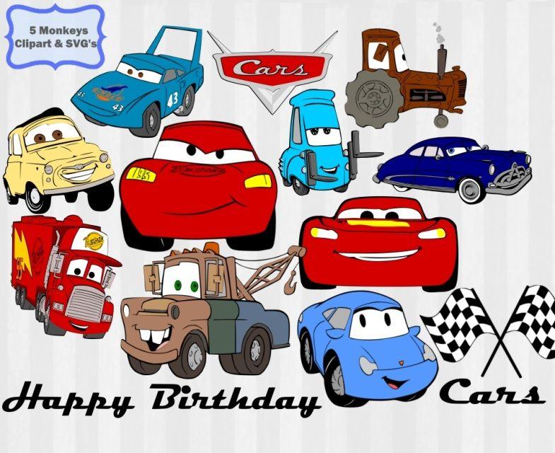 Disney svg bundle lightning. Cars clipart happy birthday