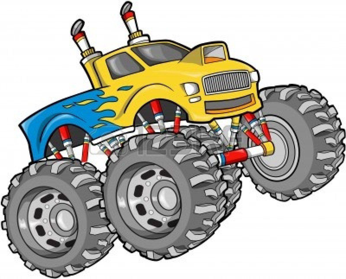 Truck vector illustration stock. Cars clipart monster