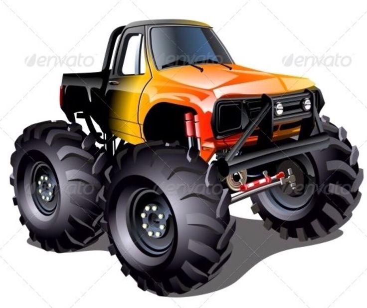 Cars clipart monster.  best cartoon truck