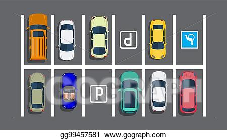 Parking lot clipart parking space. Vector stock city with
