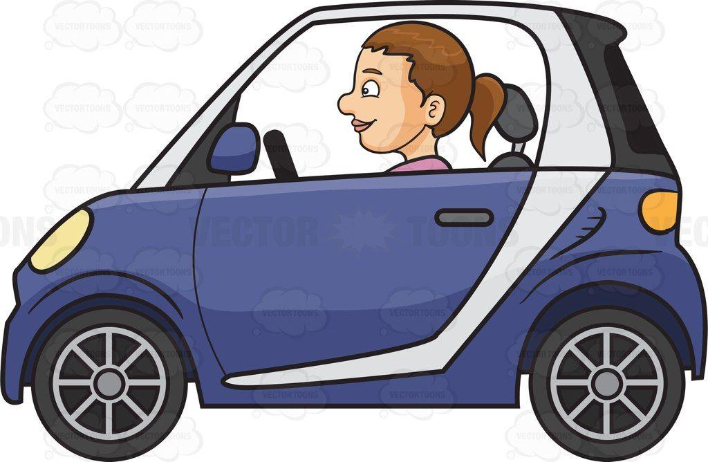 Driver clipart woman driver. A driving smart car