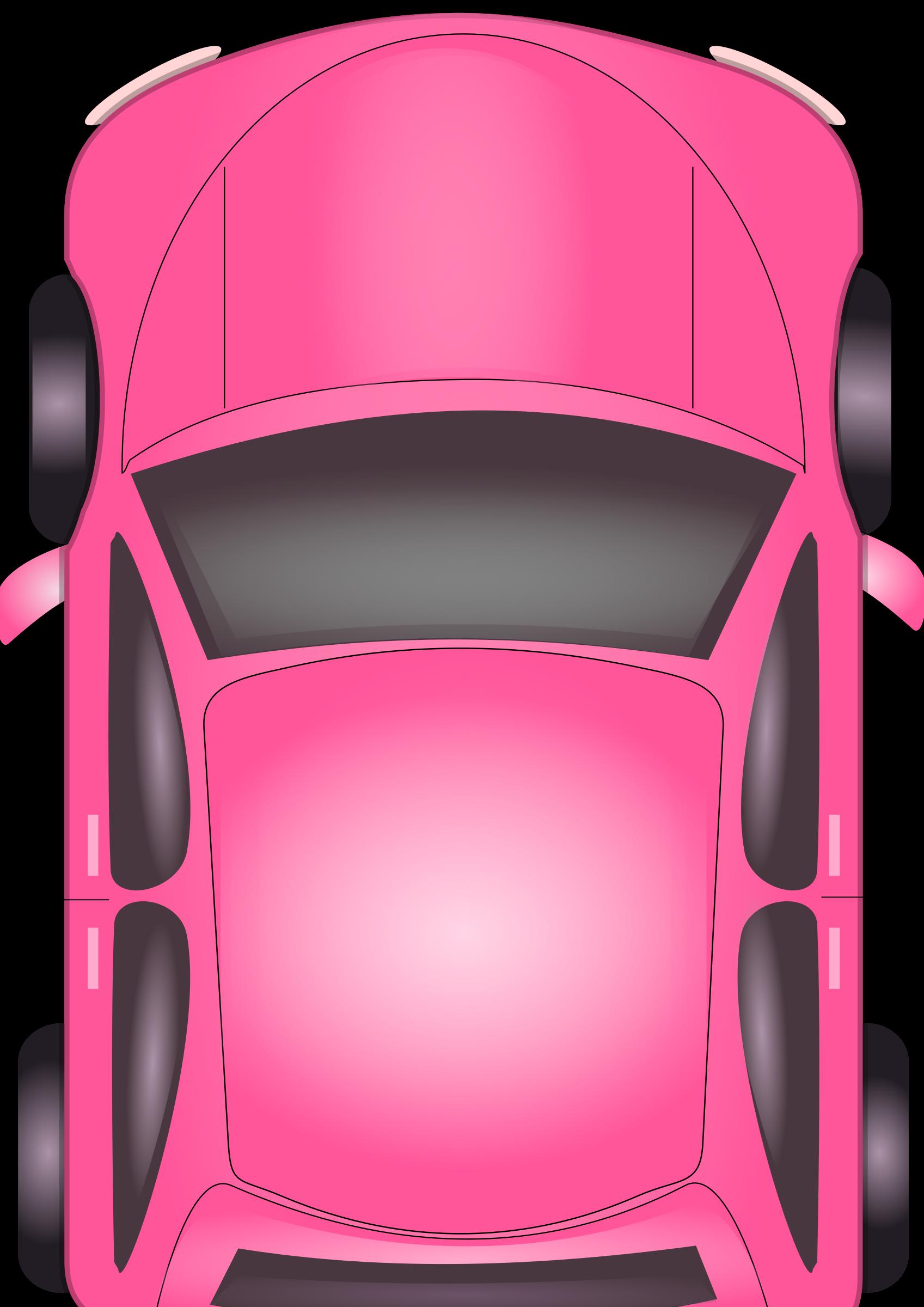 Door clipart top view. Pink car big image