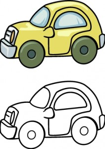 Cars clipart printable. Toy car coloring pages