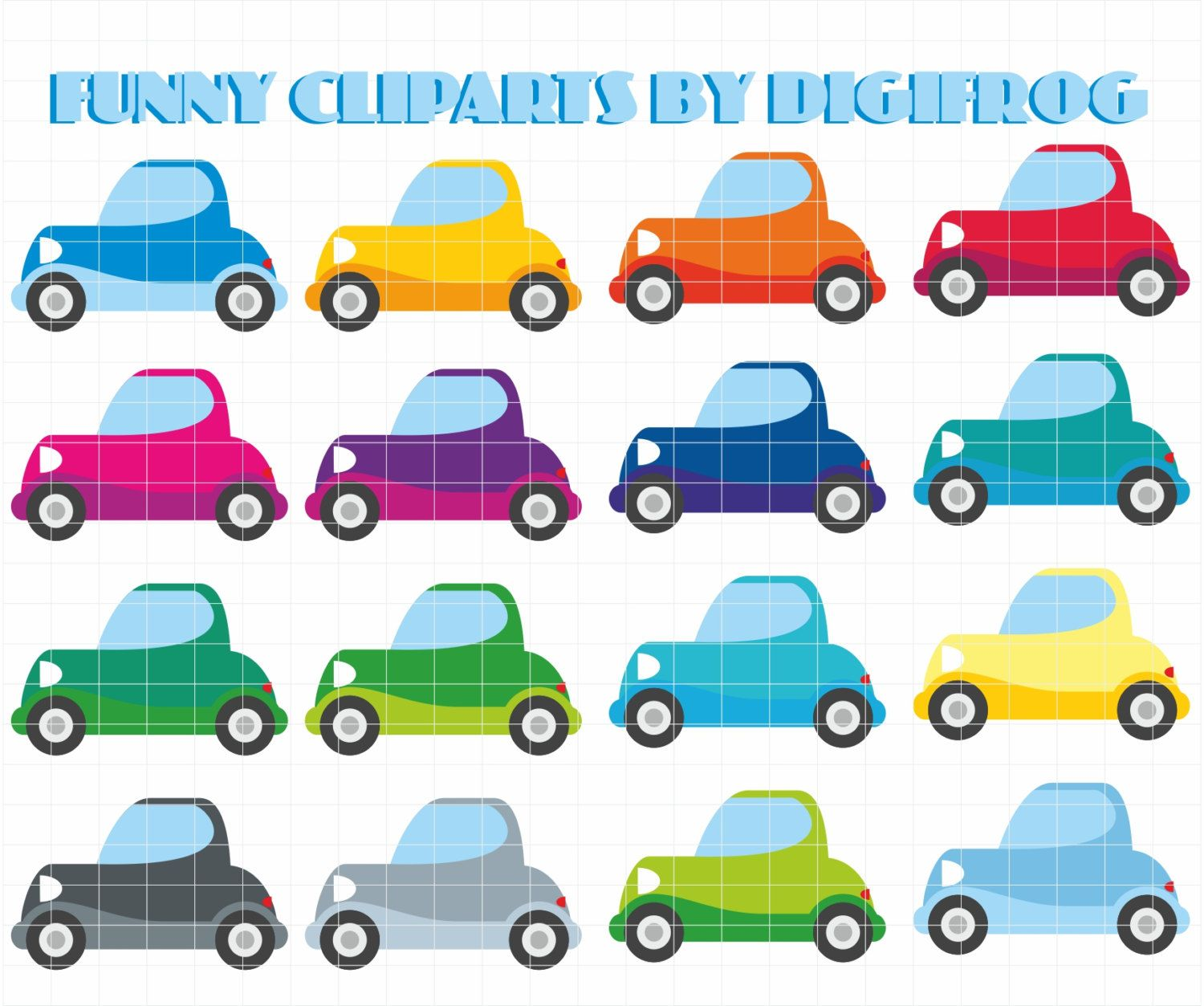 Small digital image little. Clipart cars printable