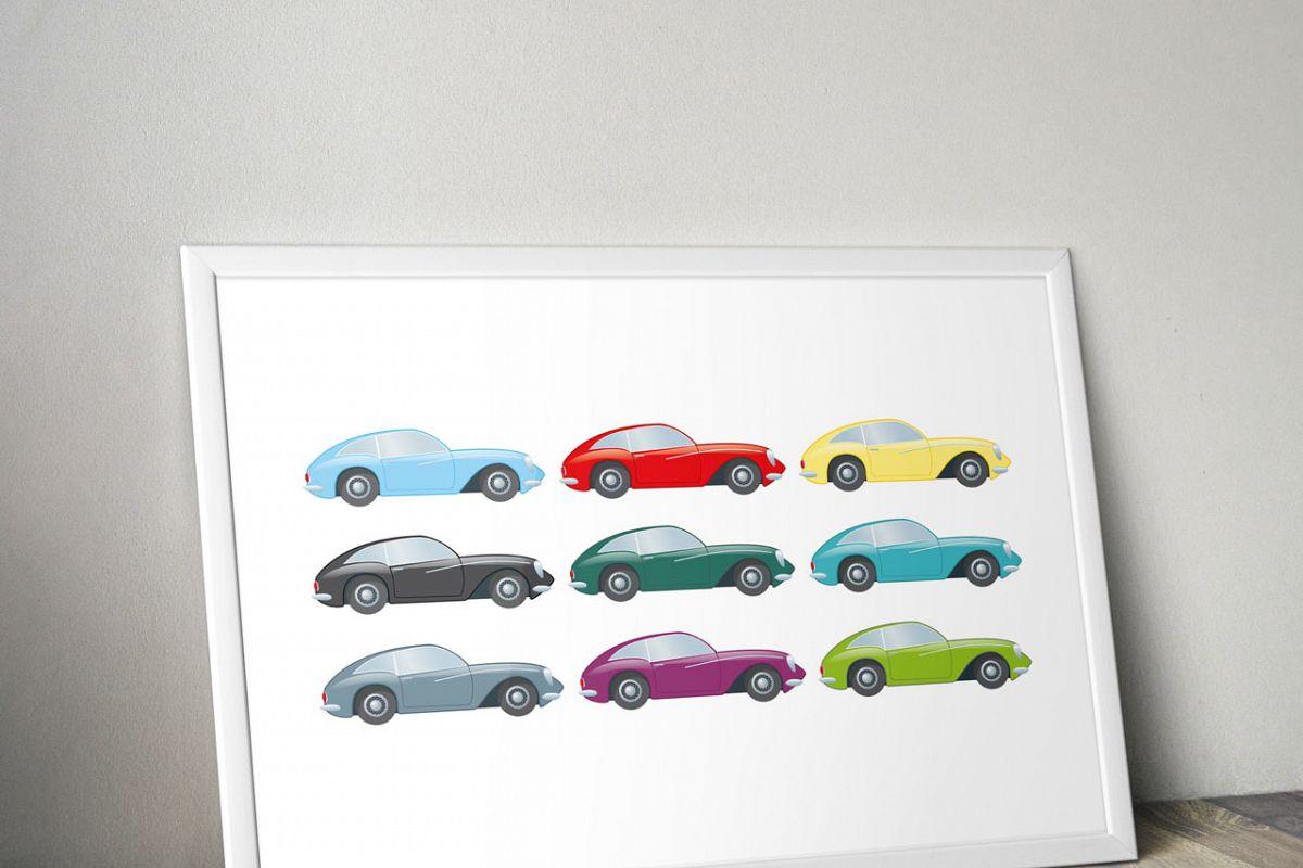 Cars clipart printable. Digital car sti design