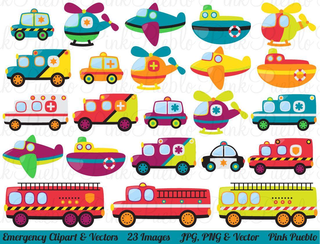 Emergency transportation clip art. Cars clipart printable