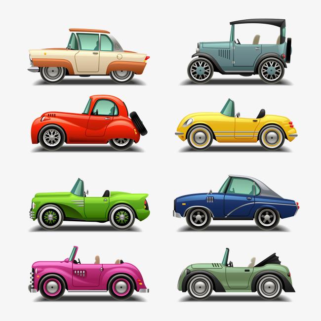 Cars clipart psd.  cartoon classic elements