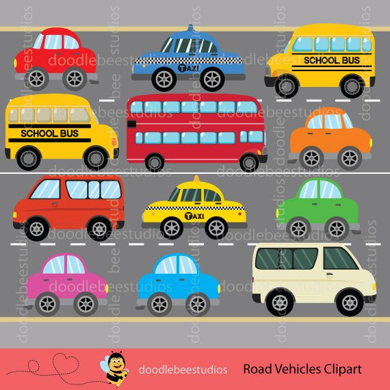 Cars clipart school. Transportation vehicles clip art