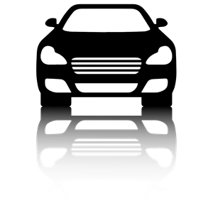 Clipart cars shadow. Black car front view