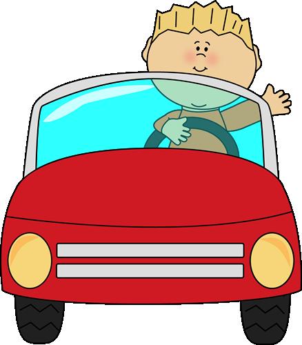 Boy a car and. Driving clipart preschool