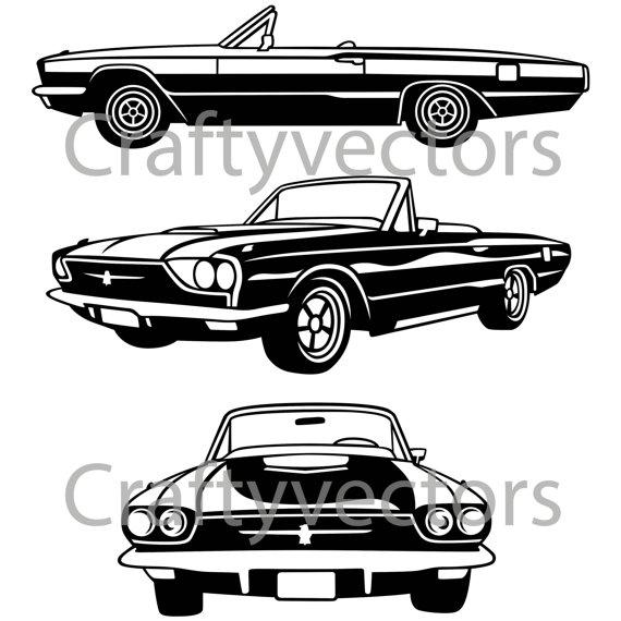 3 clipart thunderbird. Ford vector file