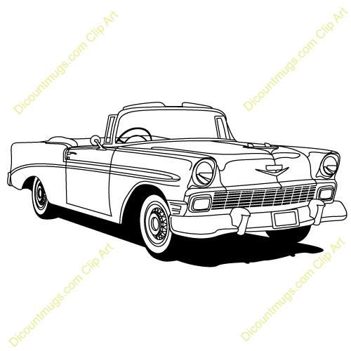50s clipart 50's car.  s