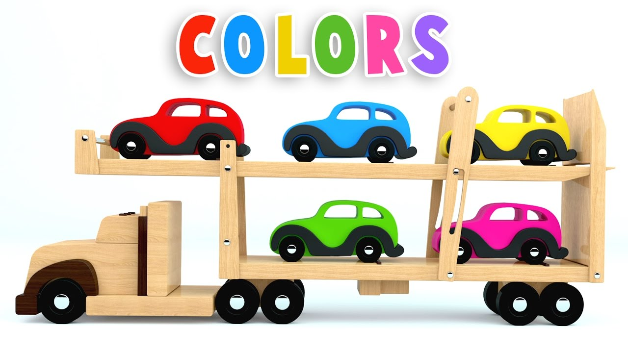 Cars clipart transporter. Colors for children to