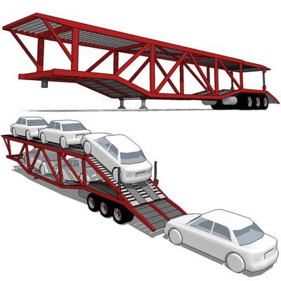 Cars clipart transporter. Car hauler trailer d