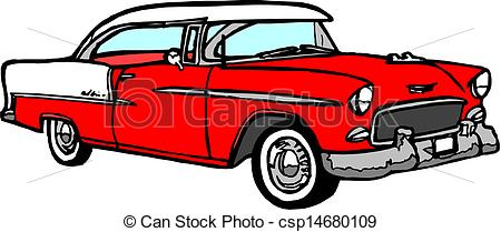 Antique clipground vintage car. Cars clipart vector