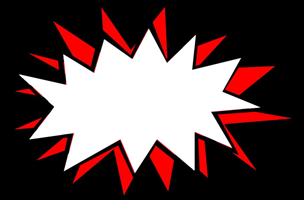 comic explosion bubble. Cartoon blood splatter png