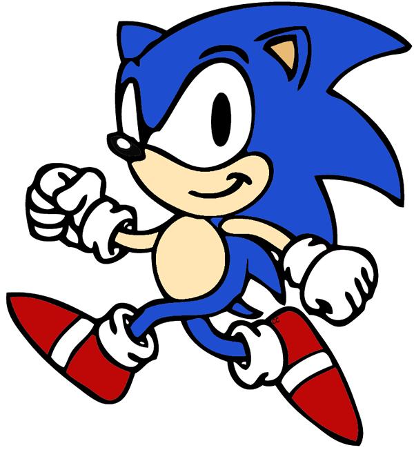 Sonic the hedgehog clip. Cartoon clipart