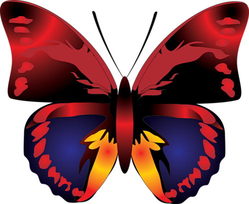 Cartoon gallery yopriceville high. Clipart butterfly red