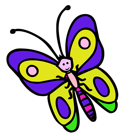 clipart butterfly kid
