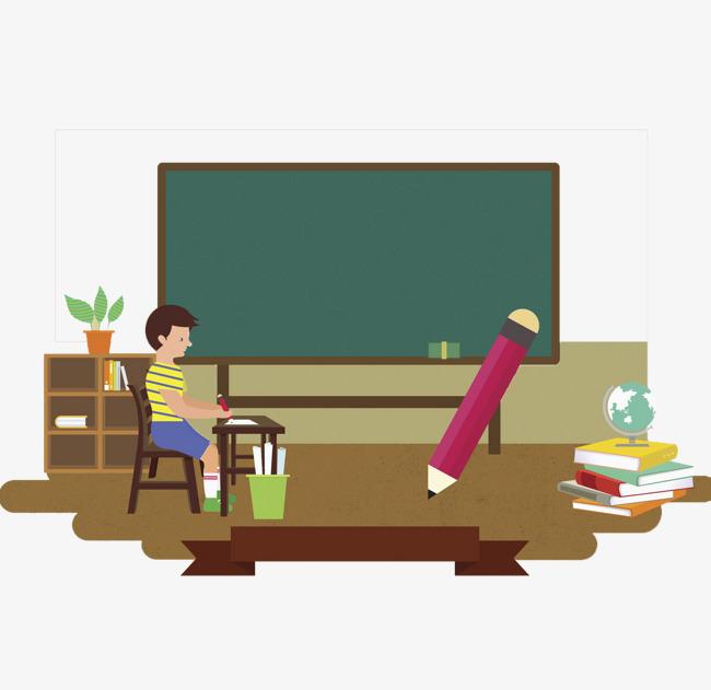 Cartoon clipart classroom. Office teacher decorative pattern