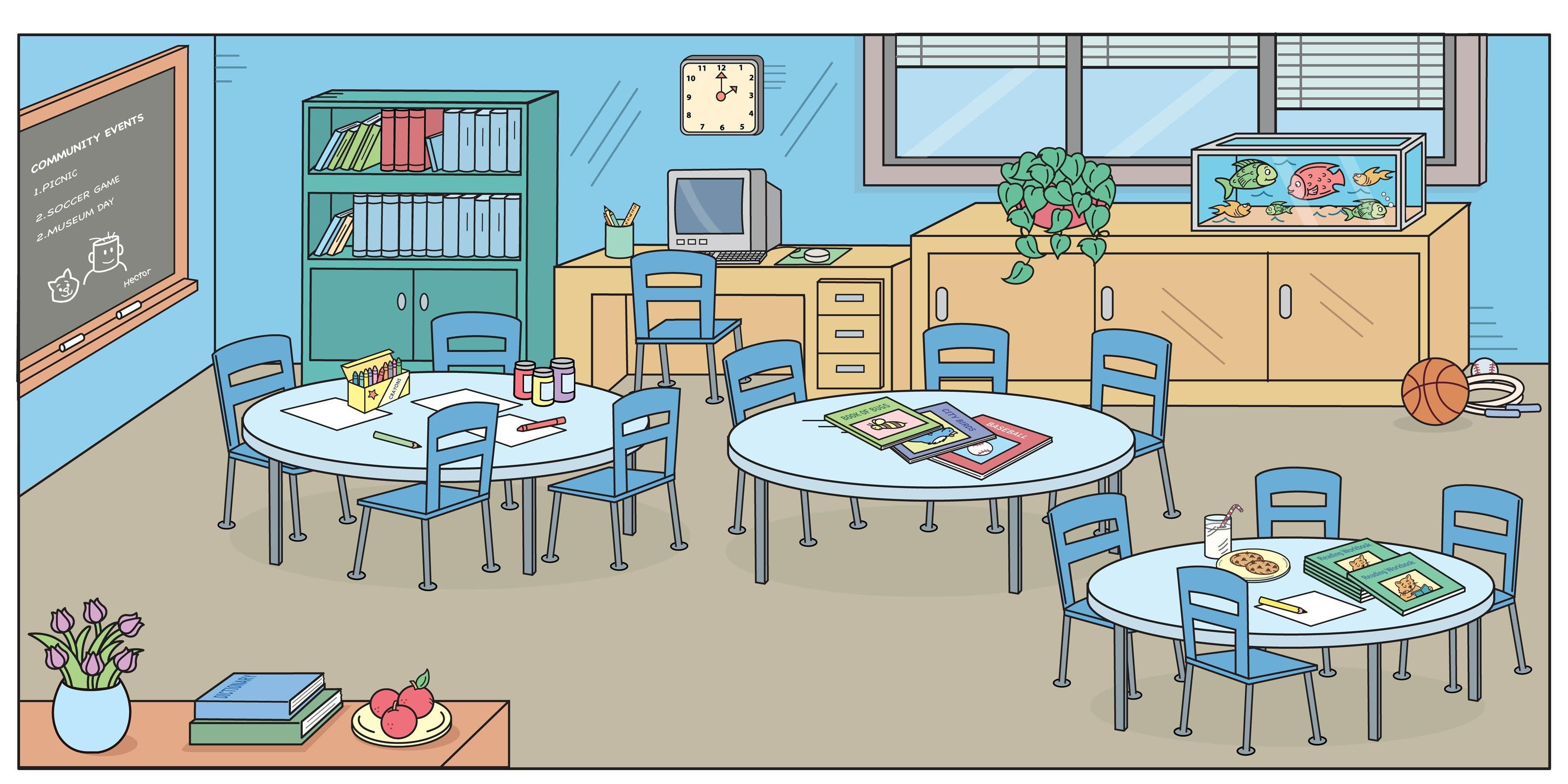 Free download clip art. Cartoon clipart classroom