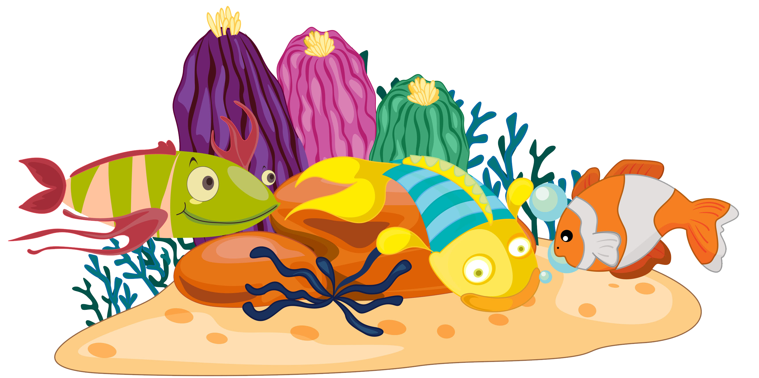 Clipart fish coral reef fish. Clip art bottom transprent