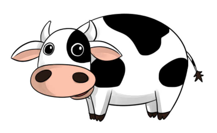 Cattle cartoon free panda. Clipart cow printable