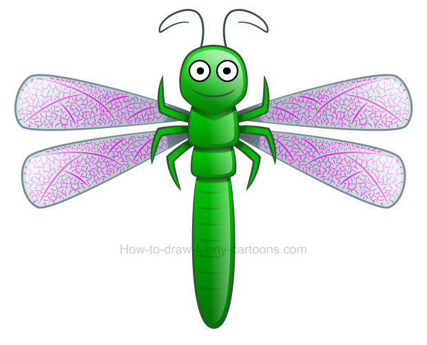 How to draw a. Dragonfly clipart