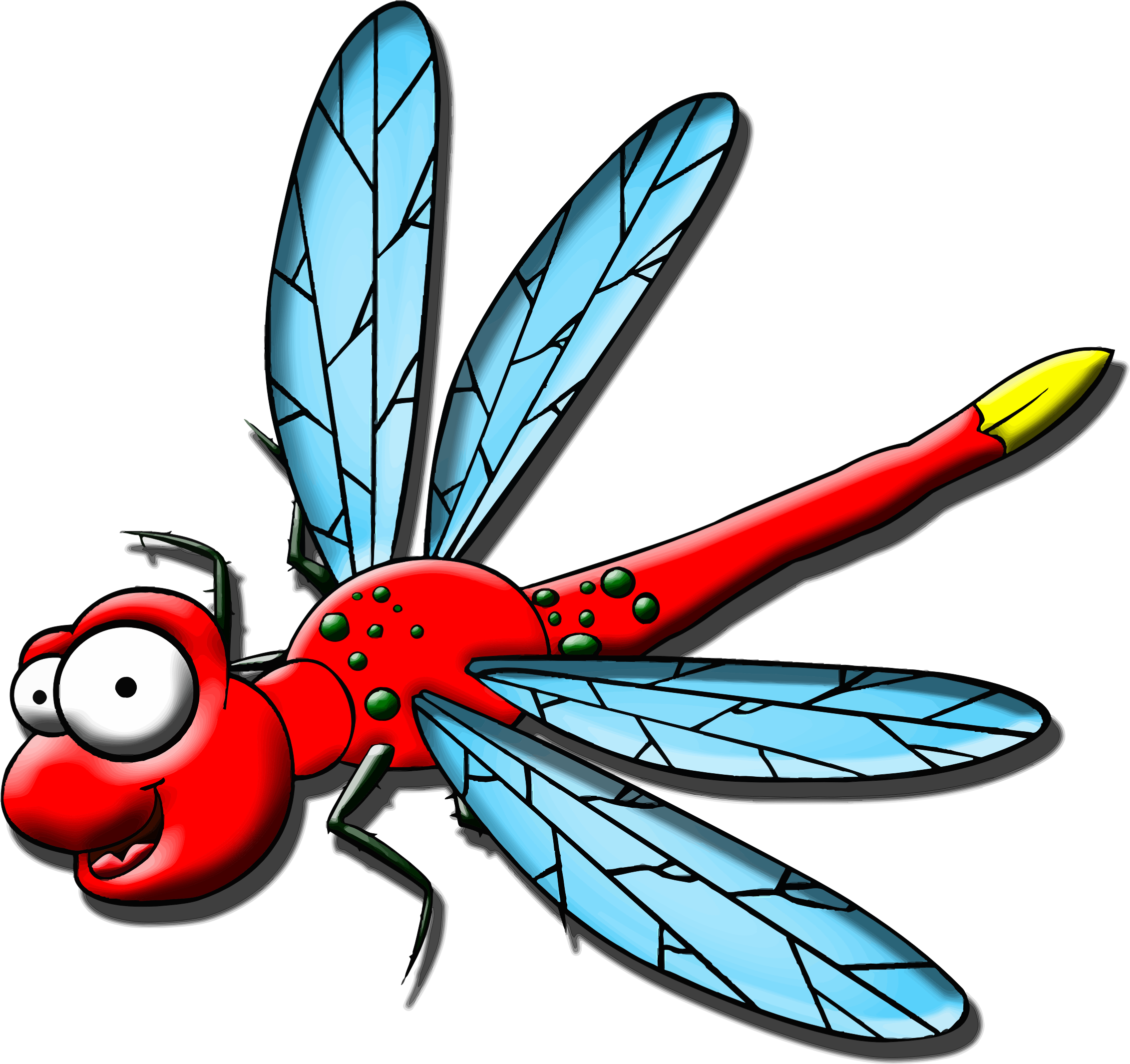 Cartoon big image png. Dragonfly clipart insect