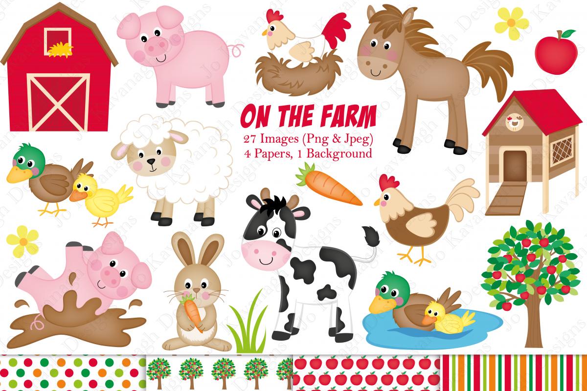 Cartoon Vector Set Farm Animals Vector Stock Vector (Royalty Free) 650728678
